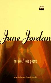 Cover of: Haruko/Love Poems
