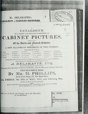 Cover of: Cabinet pictures, principally of the Dutch and Flemish schools | H. Phillips