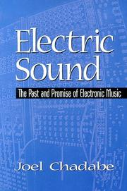 Cover of: Electric sound | Joel Chadabe