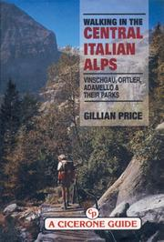 Cover of: Walking in the Central Italian Alps