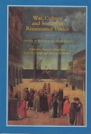Cover of: War, Culture and Society in Renaissance Venice |