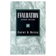 Cover of: Evaluation | Carol H. Weiss