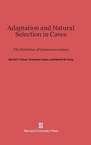 Cover of: Adaptation and Natural Selection in Caves
