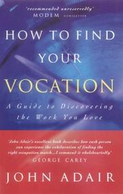 Cover of: How to Find Your Vocation