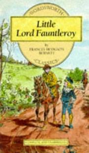 Cover of: Little Lord Fauntleroy (Wordsworth Collection Children