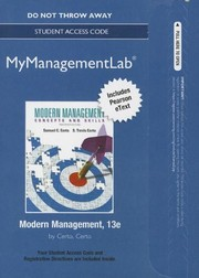 Cover of: Modern Management MyManagementLab Access Card