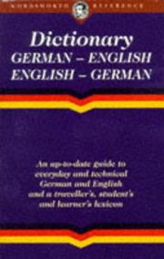 Cover of: English-German/German-English Dictionary | Robin Sawyers