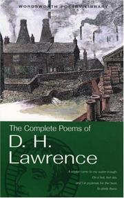 Cover of: The complete poems of D.H. Lawrence