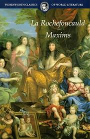 Cover of: Maxims