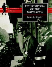 Cover of: Ency.of the Third Reich