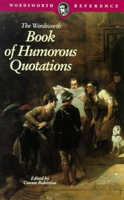 Cover of: WORDSWORTH BOOK OF HUMORO (Wordsworth Collection) (Wordsworth Collection) | C. Robertson