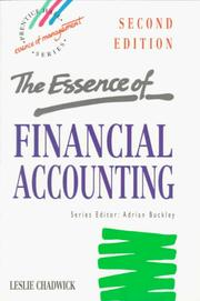 Cover of: The essence of financial accounting