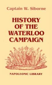 Cover of: History of the Waterloo campaign