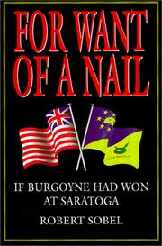 Cover of: For Want of a Nail