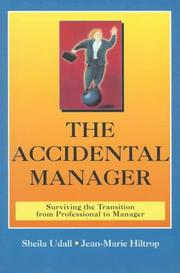 Cover of: The accidental manager