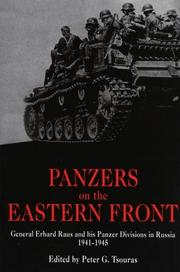 Cover of: Panzers on the Eastern Front