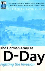 Cover of: The German Army at D-Day |