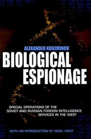 Biological Espionage by Alexander Kouzminov