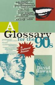 Cover of: Glossary of the 90s