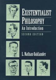 Cover of: Existentialist Philosophy