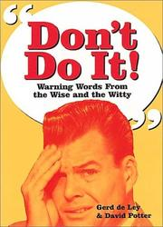 Cover of: Dont Do It!