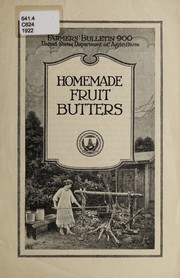 Cover of: Homemade fruit butters | C. P. Close