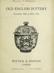 Cover of: Old English pottery | Puttick and Simpson