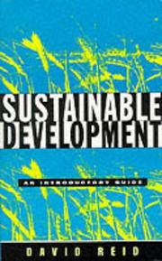 Cover of: Sustainable development