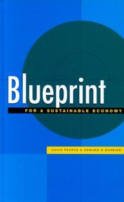Cover of: Blueprint for a sustainable economy