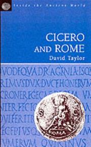 Cover of: Cicero and Rome (Inside the Ancient World) | David Taylor