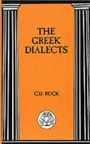 Cover of: Greek Dialects (BCP Advanced Language) | Carl Darling Buck