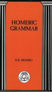 Cover of: Homeric Grammar (BCP Advanced Language) (BCP Advanced Language) | D.B. Monro