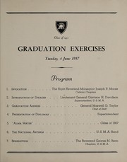Class of 1957 graduation exercises, Tuesday, 4 June 1957