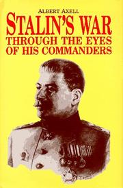 Cover of: Stalin's war