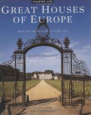 Cover of: Great Houses of Europe