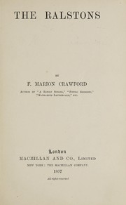 Cover of: The Ralstons | F. Marion Crawford