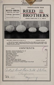 Cover of: Reed Brothers, 1935 twenty-sixth year | Reed Brothers (Cortland, N.Y.)