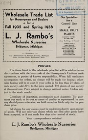 Cover of: Wholesale trade list for nurserymen and dealers for fall 1935 and spring 1936 | L.J. Rambo