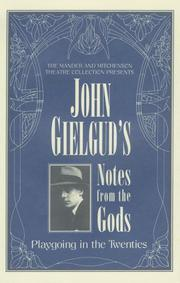 Cover of: John GielGud's Notes From The