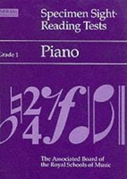 Cover of: Specimen Sight-reading Tests