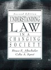 Cover of: Understanding law in a changing society