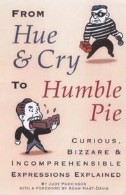 Cover of: From hue and cry to humble pie