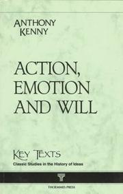 Cover of: Action, Emotion, and Will (Key Texts)