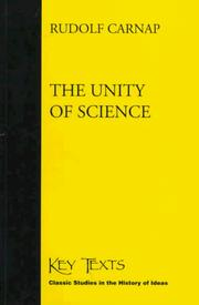 Cover of: The Unity of Science (Key Texts)