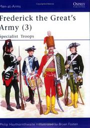Cover of: Frederick the Great's Army (3): Specialist Troops