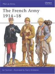 Cover of: The French Army 1914-18 | Ian Sumner
