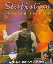 Cover of: Statistics | James T. McClave