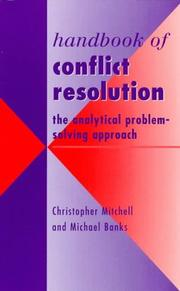 Cover of: Handbook of conflict resolution