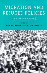 Cover of: Migration and refugee policies