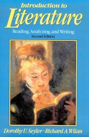 Cover of: Introduction to literature